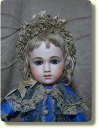 French A.T. Gallery - 20 inch A. Thuillier 13 doll with antique eyes